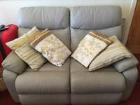 TWO HIGH QUALITY LEATHER SOFAS FOR SALE