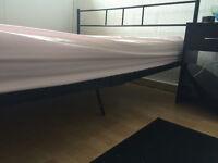 Free Black Metal Double Bed Frame - Kids/Spare bedroom