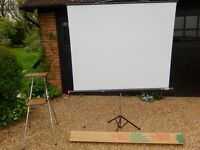 Projection Screen and Projector Stand
