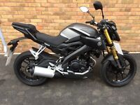 Yamaha MT-125 ABS, Brand new without on the road costs!