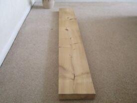chunky pine wood ideal for shelf/ fireplace mantel