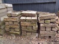 Approx 400 decorative concrete garden bricks