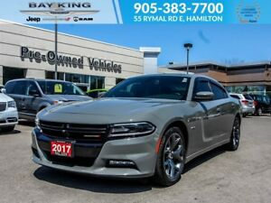 2017 Dodge Charger R/T, GPS NAV, SUNROOF, BACKUP CAM, HTD/VENTED