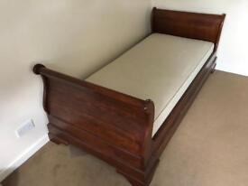 Mahogany Sleigh Bed.