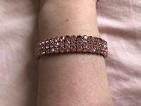 Pink diamond costume bracelet