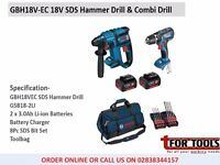Bosch GBH18v-EC 18v SDS Hammer Drill & Combi Drill Kit