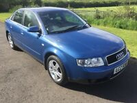 2002 Audi A4 2.0 SE full leather Mot'd Feb2018, 6mth warranty