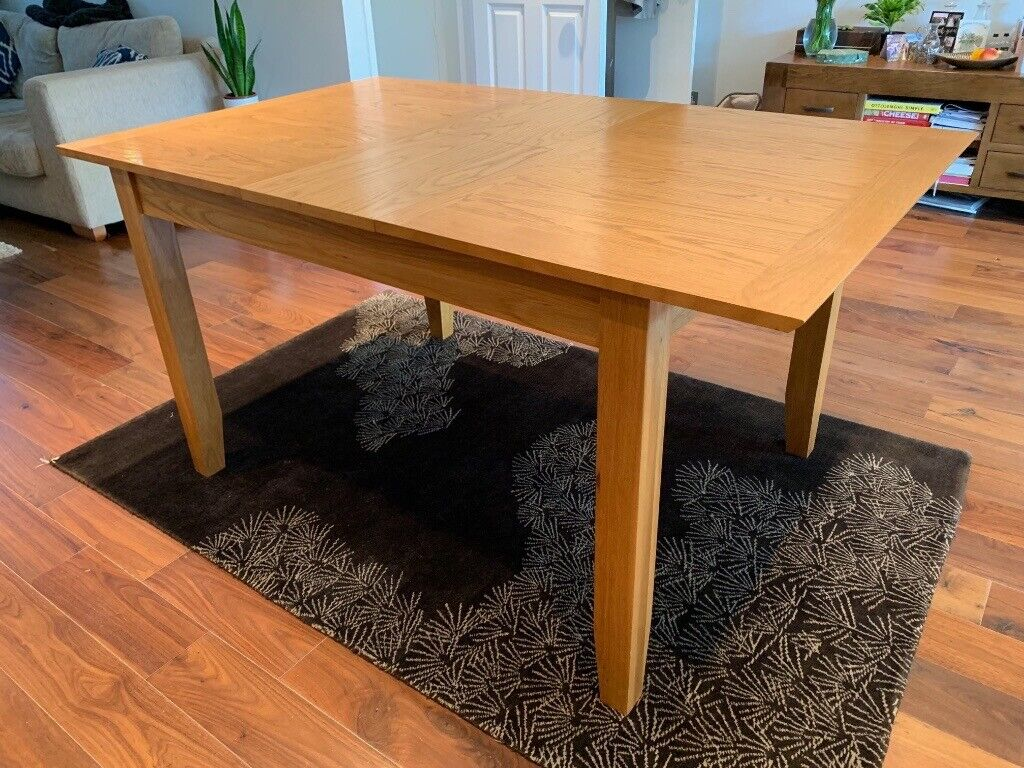john lewis extendable dining table and 4 chairs  in