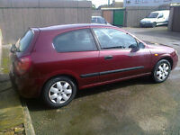 Sold as spares or repair a very good condition nissan 11 months mot, engine management light was on