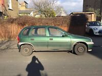 Vauxhall corsa club 16V for sale, MOT, sunroof, drives well cheap.