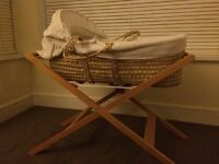 John Lewis Moses Basket with Stand