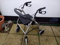 Mobility walker Adult size folding with storage under seat and 2 brakes