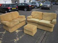2 x Sofa's & Pouffe