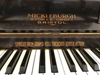 Piano - FREE! Upright Iron Framed - Mickleburgh of Bristol