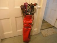 Golf Clubs Bag, 5 Woods 10 Irons, Putter and Balls Weymouth