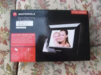 "Motorola 7"" digital photo frame. Unwanted gift. Box unopened."
