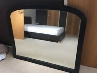 Stained hardwood mirror