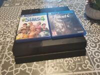 PS4 console, controller and games for sale