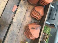 Bonnet tiles/valley tiles roof tiles