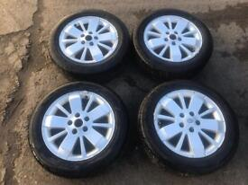 "Set of 4 Renault Laguna 16"" Alloy wheels and tyres"