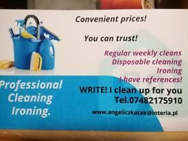 cleaning and ironing in London /great prices!! One-off deep and regular cleaning