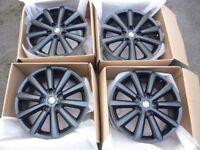 set of 4 Black Alloy Wheels 17''
