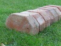 "19 shaped facing bricks for wall capping or squint use. 9"" x 4.5"" x3"""