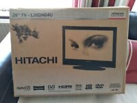HITACHI TV WITH BUILT IN DVD ( SOLD)