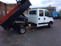 Iveco Daily 35/12. 7 seater crew cab tipper