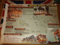 Vintage 1950's Educational Wall Poster Empire Information Project - British Pacific Islands (3)
