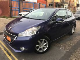Low Miles 2014 Peugeot 208 1.2 VTi Active 3dr Blue Alloys Multimedia Alloys FINANCE WARRANTY