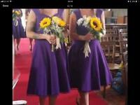 Beautiful Cadbury Purple Bridesmaid dresses