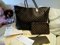 Authentic Louis Vuitton GM Neverfall bag and clutch