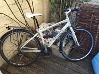 Trek 7.3 FX bike with armadillo all weather tyres, rack and water bottle holder