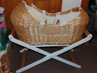 Light Wicker Noah Pod with Wooden Stand
