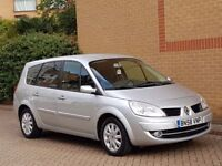 RENAULT GRAND SCENIC 58 REG 6 SPEED MANUAL, SUPERB LOW MILEAGE EXAMPLE, 1.6 PETROL LOW RUNNING COST