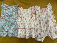 Monsoon Rompers & Dress 3-6 months