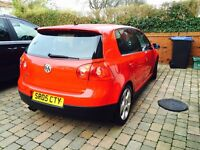 Red Golf GTi, Mark 5. DSG. Full service history, excellent condition inside and out.