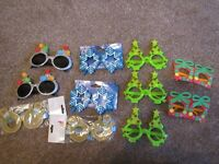 11 Christmas or party fun glasses -new