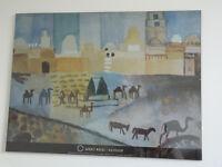 August Macke poster in glass clip frame