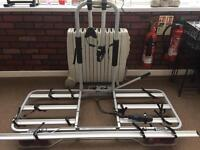 4 Cycle Bike Rack for tow bar, lockable with electrics