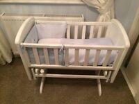 White Glider Crib