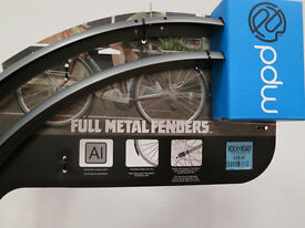 Metal Road Bicycle Mudguards, Brand new and boxed. 700x 30mm. Grey Aluminium.