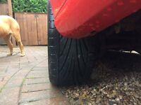 4 X Toyo Proxes TR1 tyres 205/40/17