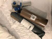 Packing set - 8 brown packing tapes, cling wrap, packing tape dispenser gun
