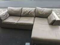 REAL LEATHER L SHAPE SOFA FROM MARKS + SPENCERS QULAITY
