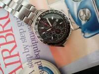Seiko flightmaster pilot chronograph snd253p1 watch vintage