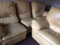 Free leather recliner sofa. 3peice and 2 piece. Free to collect today