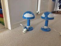 2 Ikea Skojig bedside lamps