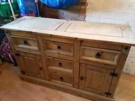 Corona Side Board Solid Wood